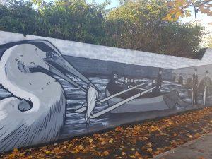 Pure Ballina mural in Ballina Co. Mayo