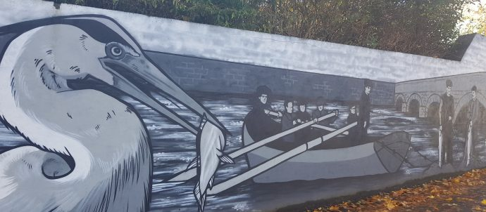 Pure Ballina mural in Ballina Co. Mayo